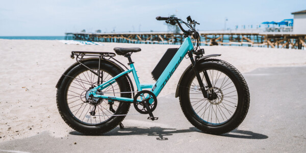 The Juiced RipCurrent Step-Through is a fat-tire 28mph ebike with tons of range