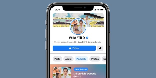 Facebook is debuting podcasts, because what else is left?