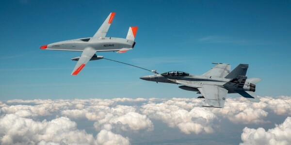 Watch a drone refuel another aircraft in mid-air for the first time