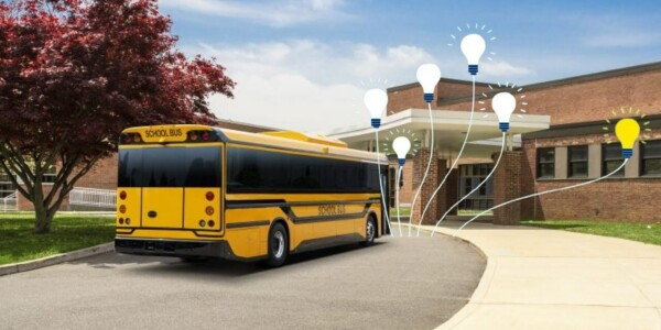BYD's electric school bus will feed electricity back to classrooms