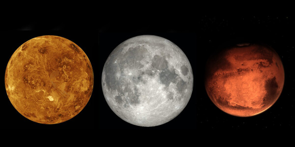 Watch the Moon, Mars, and Venus form a celestial conga line on July 12