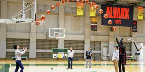 Watch a basketball robot show NBA stars how to shot