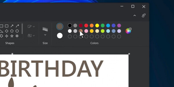 Paint looks different in Windows 11, but not enough to make fans mad