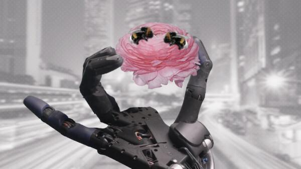 robothand_flowerandbees