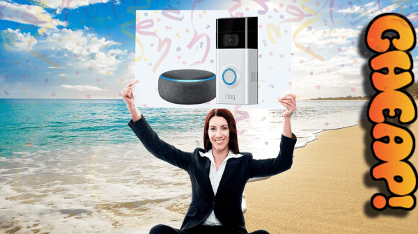 CHEAP header echo dot ring video camera 2
