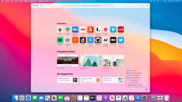 Safari start page