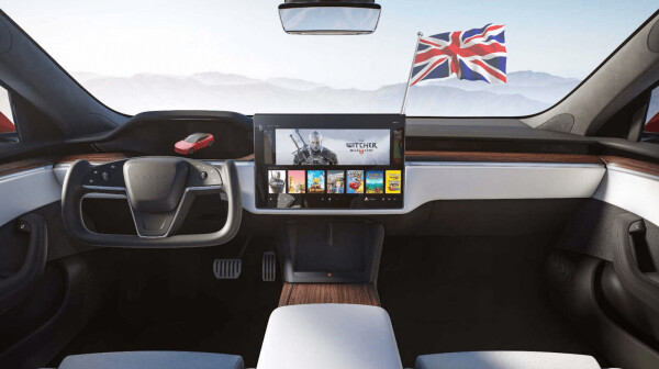second, britain, legal, tesla, butterfly, steering, wheel, car, rendering, future, ev, electric, musk