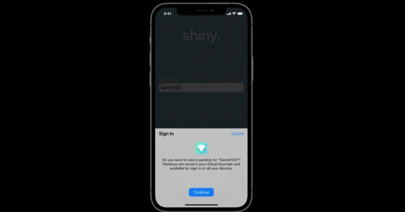 Apple introduces passwordless sign ups with Face ID and Touch ID