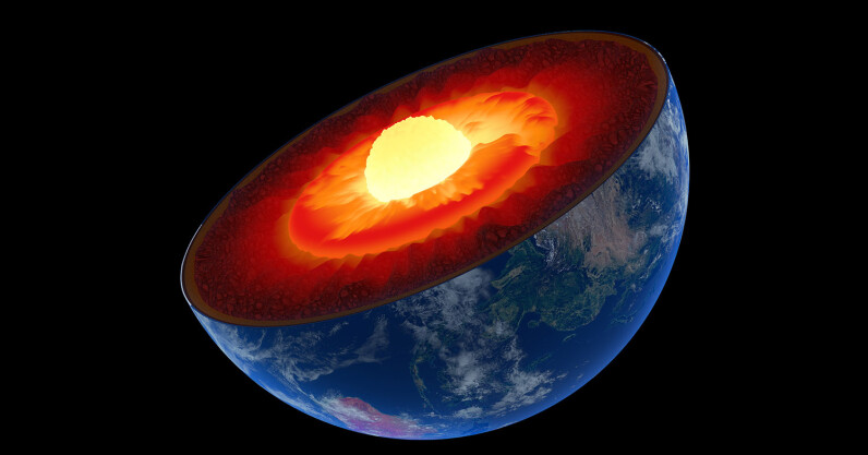 How gravitational forces stop Earth's asymmetrical core from tipping us over