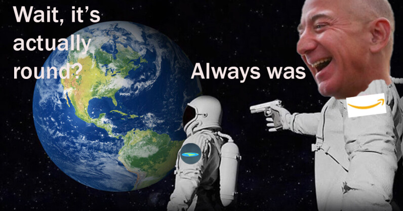 Billionaire 'cashtronauts' should force flat-Earthers on their ego trips