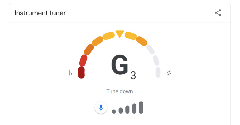 You can now tune your guitar right on Google Search