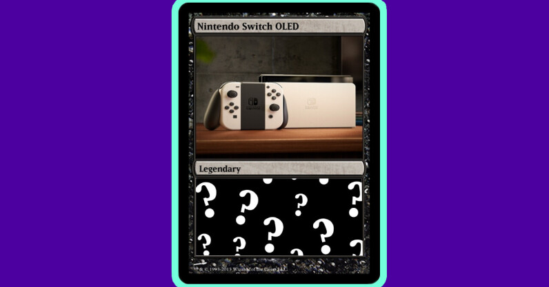 We reviewed the Nintendo Switch OLED like it was a Pokémon card