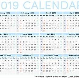 LuxeCalendar - Printable Calendar
